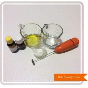 Ingredientes y Mini Batidora